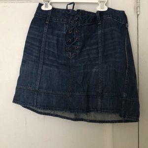 Mini jean skirt, Size 6
